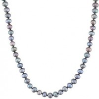 Sterling Silver White Freshwater Cultured A Quality Pearl Necklace (5.5-6mm)