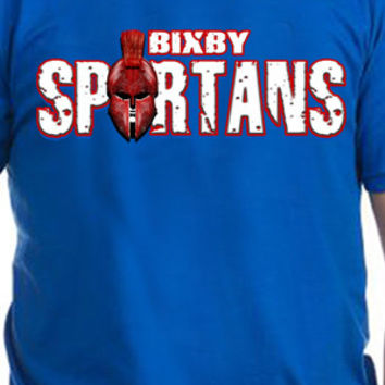 Bixby Spartans Warrior Head T-Shirt