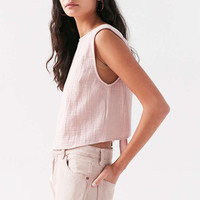 Kimchi Blue Double-Cloth Tie-Back Blouse - Urban Outfitters
