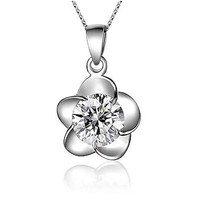 Women's necklaces-Clover Leaf Necklaces in Sterling Silver