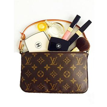 LV Wallet Louis Vuitton Women Monogram Small Bag Coin bag Key Bag
