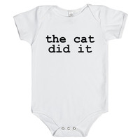 the cat did it baby one-piece
