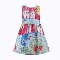 Girls Dress Princess Dress Toddler Costume for Kids Clothes Painting Baby Girls Party Dresses Children Clothing