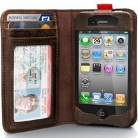 Apple Iphone 4 / Iphone4s Leather Read BookBook Case by Julyjoy