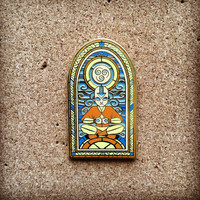 Stained Glass Aang - Avatar hat pin (In stock ready to ship)