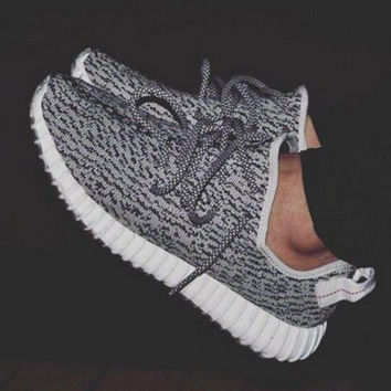 """""""Adidas"""" Women Yeezy Boost Sneakers Running Sports Shoes Grey"""
