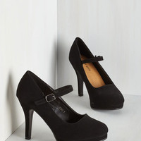 Vintage Inspired Timeless of My Life Heel in Black
