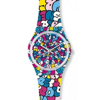 Swatch GE232 Unisex Love Song Kidrobot Special Colorful Plastic Watch