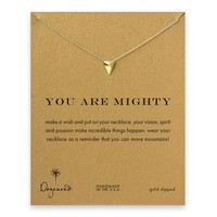 you are mighty pyramid necklace, gold dipped