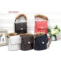 LV tide brand female models simple wild chain bag shoulder bag Messenger bag