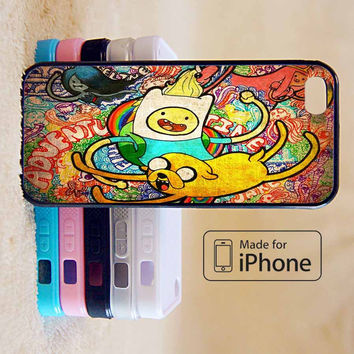 ADVENTURE TIME GRAFFITI COLLAGE For iPhone 6 Plus For iPhone 6 For iPhone 5/5S For iPhone 4/4S For iPhone 5C-5 Colors Available