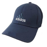 Adidas Flex Fit Cap Hat Baseball Basketball Tennis Running (Navy, XL)