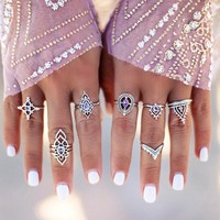 Ring Pale Violet Geometric Set [11762578255]