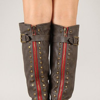 Grey Outlaw Boots