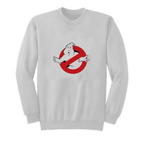 ghost buster sweater White Sweatshirt Crewneck Men or Women for Unisex Size with variant colour