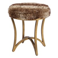 Bernett Fur Accent Stool