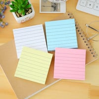 80Pages Set Soild Color Memo Pad Diy Post It Kawaii Stationery School Stationery Set Office Supplies Notepad Cute Sticky Notes