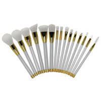 Makeup Brush Sets 15-pcs White Make-up Tools [9647072271]