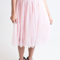 Don't Tulle With My Heart Pink Skirt