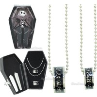 Licensed cool 2014 THE NIGHTMARE BEFORE CHRISTMAS HIS & HER WEDDING RING SET In COFFIN BOX NEW