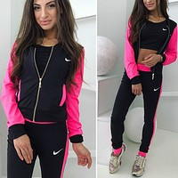 shosouvenir Nike: fashion casual sports 3 piece set Sportswear