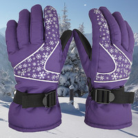 2016 new Women Ski Gloves Snowboard Gloves Motorcycle Riding Waterproof Snow Winds topper Camping Mittens RP#