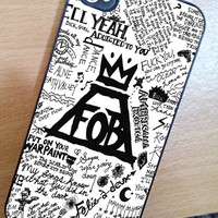 Fall Out Boy Lyric Case iPhone 3Gs/4/4s/5/5s/5c, iPod 4/5/nano7, Samsung Galaxy s2/s3/s4/s5/note/ace2, HTC One/One X