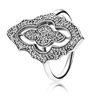PANDORA Sparkling Lace with Clear CZ Ring