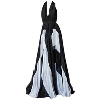 NAOMI'S APPEAL ISSA OVER-THE-TOP HALTER GOWN