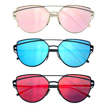 Bundle Of Sunglasses In Bundles 3 Pairs Of Flat Len Mens Womens Sun Glasses EE04