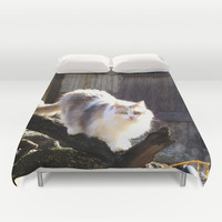 The Beautiful Maine Coon Dilute Calico Duvet Cover by Minx267