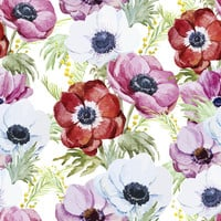 Plentiful Poppies Removable Wallpaper