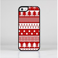 The Red and White Christmas Pattern Skin-Sert for the Apple iPhone 5c Skin-Sert Case
