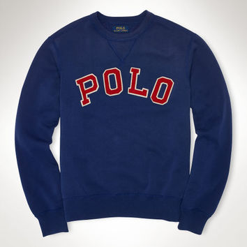 "FLEECE ""POLO"" CREW SWEATSHIRT"