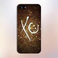 Gold Glitter XO Design Case for iPhone 6 6 Plus iPhone 5 5s 5c iPhone 4 4s Samsung Galaxy s5 s4 & s3 and Note 4 3 2