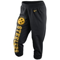 Nike Pittsburgh Steelers Ladies Wild Card All Time Performance Capri Pants - Black