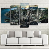 Harry Potter Castle wall picture for room 5 piece pcs panel wall art on canvas
