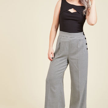 Perfected Productivity Pants in Houndstooth | Mod Retro Vintage Pants | ModCloth.com