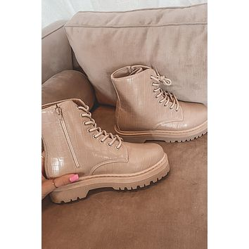 Camp Out Taupe Croc Boots
