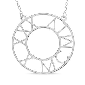 ROMAN BIRTHDAY CIRCLE NECKLACE - STERLING SILVER