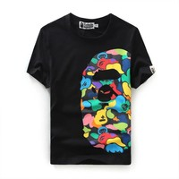 Cotton Bape Summer Print Short Sleeve T-shirts [10262482707]
