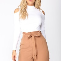 Ellen Cold Shoulder Top - White