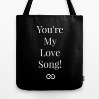You're My Love Song Tote Bag by Louisa Catharine Forsyth #society6 #bagaceous