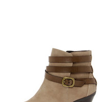 CL by Laundry Light Up Taupe Belted Ankle Boots