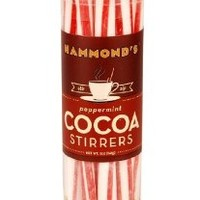 Hammond Candies Flavored Cocoa Stirrers, in Peppermint