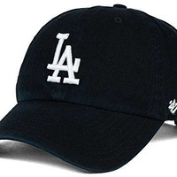 '47 Brand Los Angeles LA Dodgers Clean Up MLB Dad Hat Cap Black/White