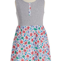 Floral Print Sleeveless Dress (Toddler Girls, Little Girls & Big Girls)