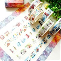 Fox Starry Sky Camera Washi Tape Adhesive Tape DIY Scrapbooking Sticker Label Masking Craft Tape