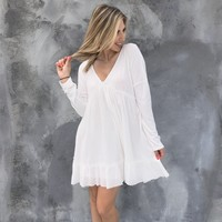 All Your Love White Peasant Dress