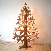 Recycled cardboard christmas tree holiday decoration L size